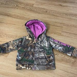 Carhartt hoodie size 12M girls